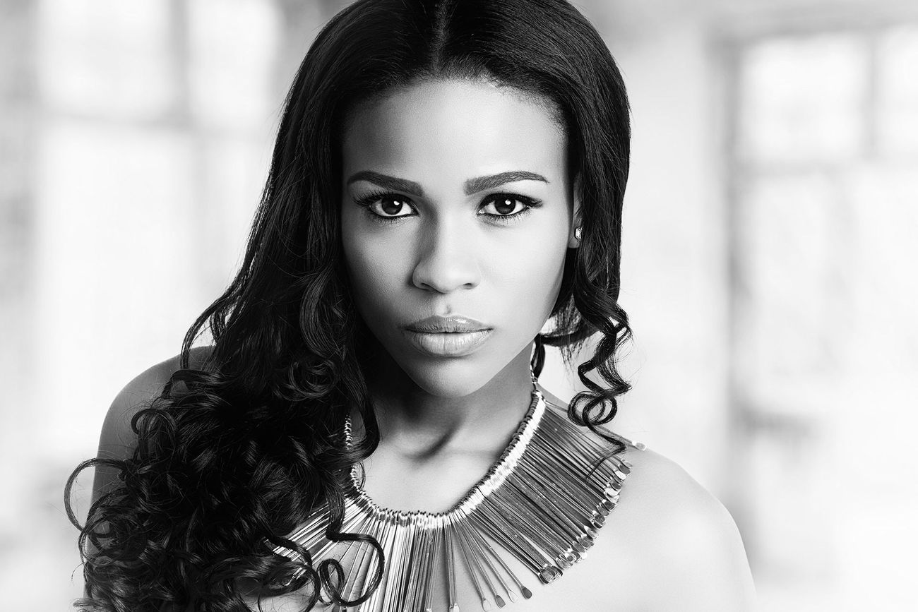 Colombian Princess, Bogota Beauty Fashion Black & White Portrait