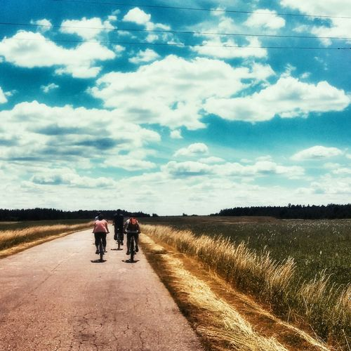 Ride Your Bike! Just a trip. Clouds And Sky Trip Bike Friends Way Road Cycling