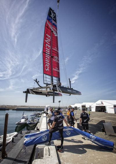 America's Cup World Series Oman Emirates Team New Zealand Yacht Race Launching Launch Time