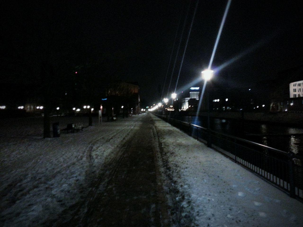 illuminated, night, the way forward, transportation, street light, no people, road, building exterior, architecture, outdoors, sky, city