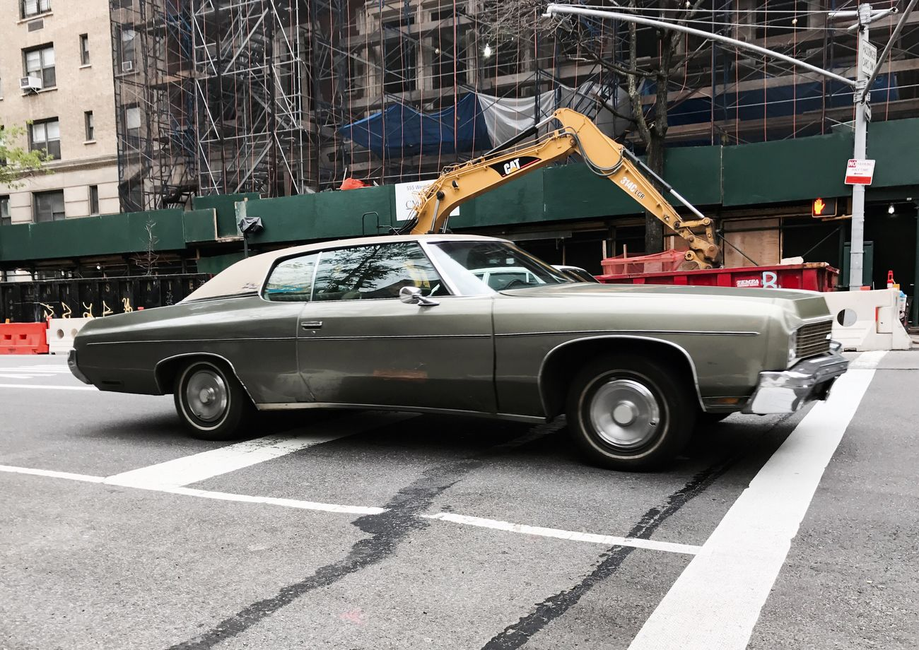 '73 #impala #classicauto #chevrolet #uws #manhattan #spring2017 #iphone7plus #iphoneography #timyoungiphoneography