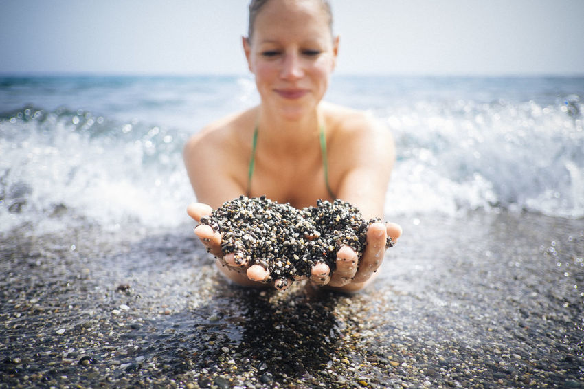 Showcase July Beach Beachphotography Summertime At The Beach Summer ☀ Summer Views Black Sand Beach Portrait Of A Woman Fine Art Photograhy Oceanside Shore Shoreline Beach Photography Beach Life Beachlife Splashing Water Ocean Wave Waves, Ocean, Nature Waves Waves Crashing Sand Sand & Sea