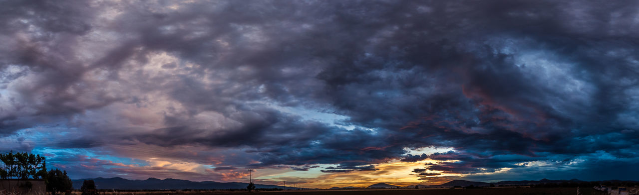 Beauty In Nature Cloud Cloud - Sky Cloudscape Cloudy Dark Dramatic Sky Dramatic Sky Landscape Moody Sky Nature No People Outdoors Panorama Panorama View Scenics Sky Sky & Clouds Sky Colours Storm Cloud Sunset Weather