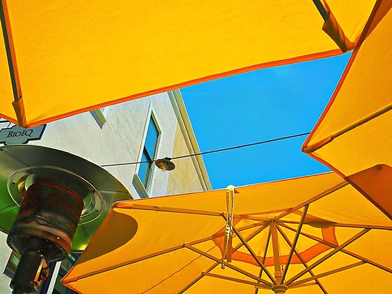 Yellow Multi Colored Low Angle View No People Sky Day Outdoors Architecture Abstract Building Exterior California Travel Destinations Architecture City Sunny Day Low Angle View Built Structure Beach Modern Illuminated Cloud - Sky Hanging Close-up