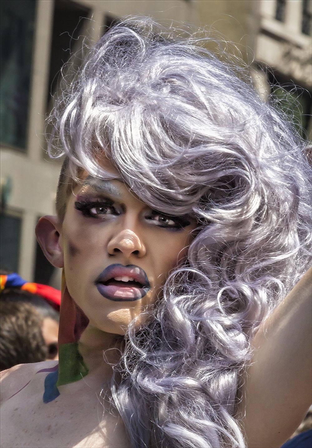 Gay Pride Parade NYC 2016 Drag Queen Gay Events Gay Pride Gay Pride Parade NYC 2016 Purple Wildflower