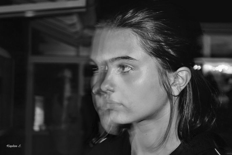 Strobes BW Black And White Black And White Photography Close-up Face Light And Shadow Light Effects People Profile Real People Shadow Side View Teen Women Young Adult
