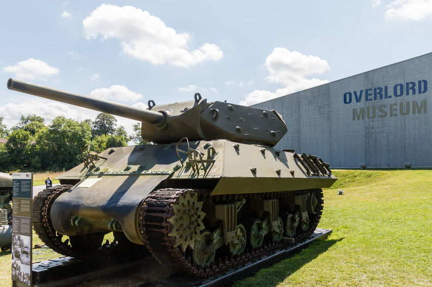 Overlord Museum, Colleville-sur-mer, Normandy, France, July 2017 D-Day Operation Overlord Overlord Museum Army Cannon Education Exhibition Exhibits History Military Museum Overlord Tank Weapon