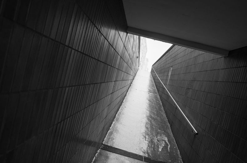 undercrossing-black and white City Life Perspective Architecture Background Black And White Built Structure Day Indoors  Light And Shadow Minimalism Monochrome No People Pattern Rainy Day Streetphotography Texture Tunnel Undercrossing, Subway