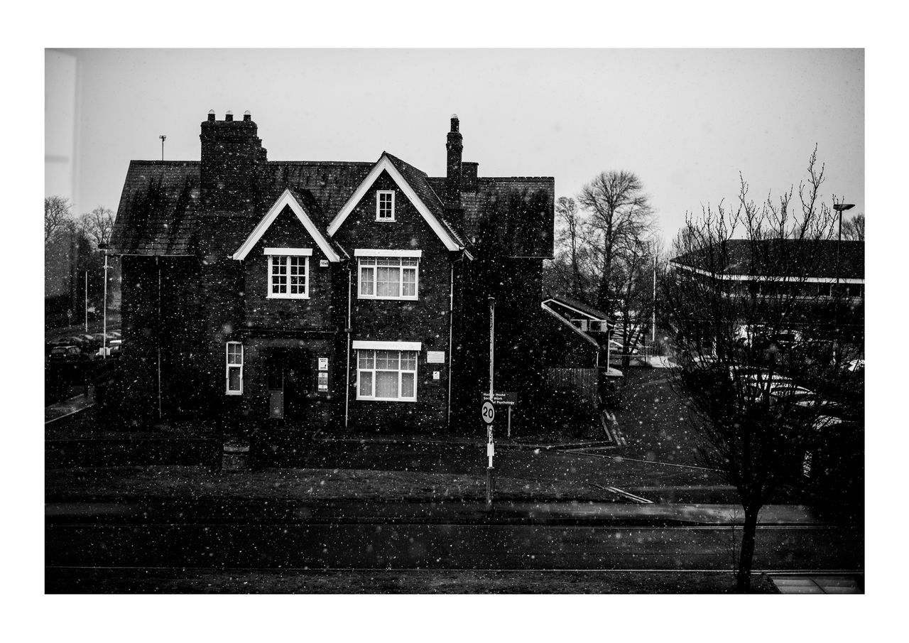 Architecture Building Exterior Built Structure Day House Leicester No People Outdoors Snow Tree Uk Winter Wonderland