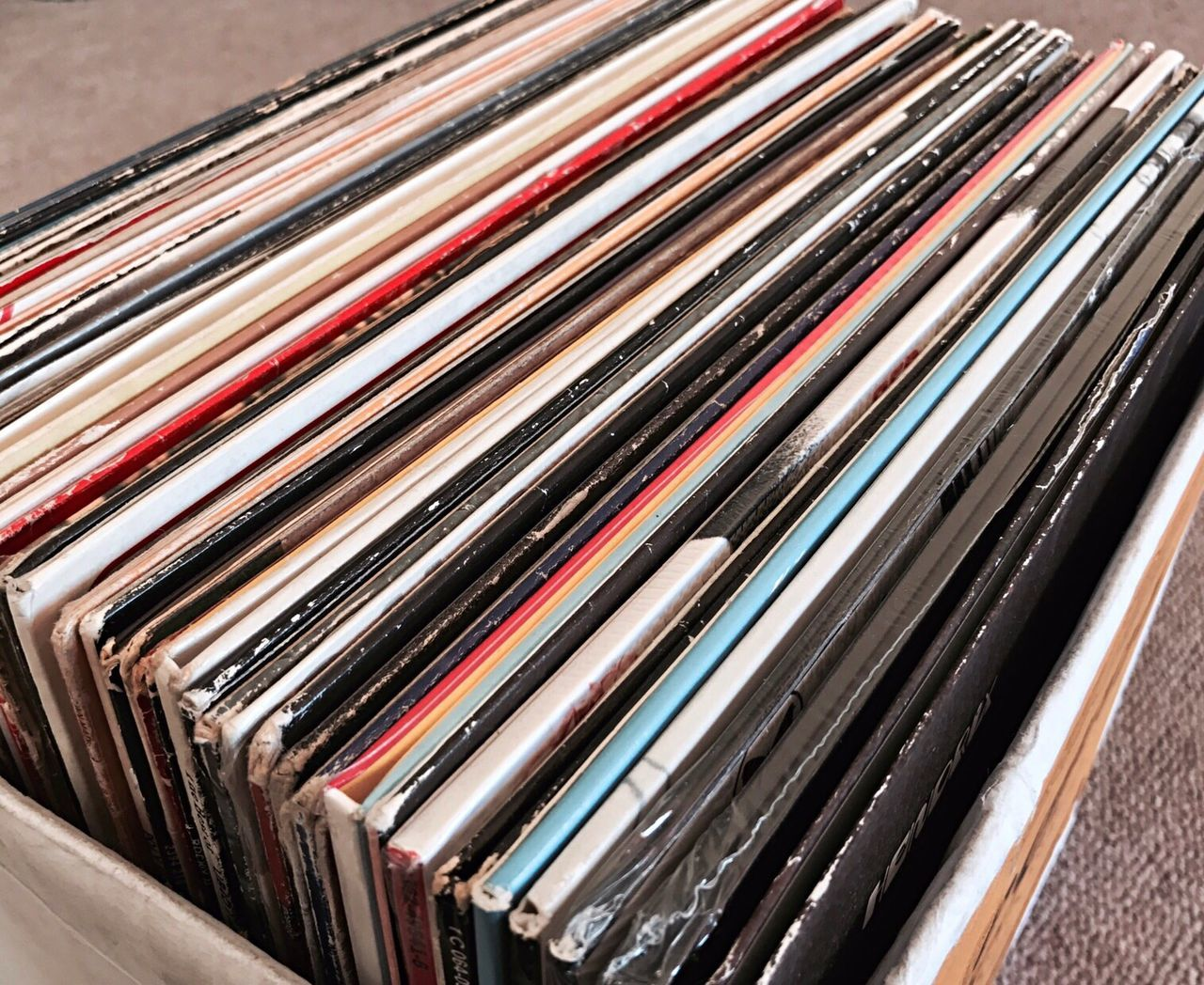 Modern record collection. Records Vinyl Vinyl Records Vinylcollector Collection Music Audio Retro Large Group Of Objects Backgrounds Stack No People Indoors  Close-up Archives Day (null)