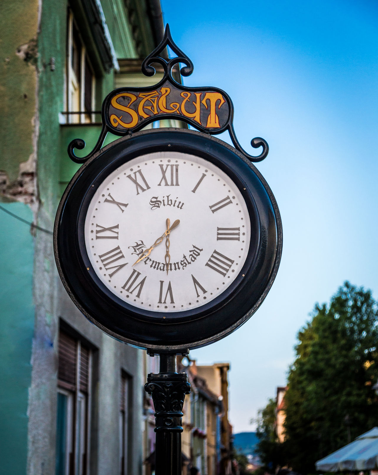 Adventure Architecture Building Exterior Clock Clock Face Clock Tower Close-up Day Eastern Europe Explore Hour Hand Minute Hand No People Old-fashioned Outdoors Roman Numeral Romania Sibiu Sky Time Tourism Transylvania Travel