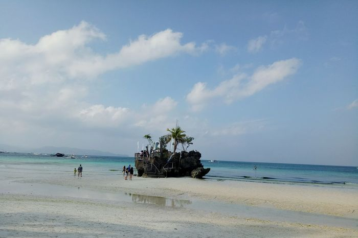 Beach Sea Water Nature Palm Tree Outdoors No People Sky Day Beauty In Nature Boracay Island  Boracay Island, Philippines BoracayIsland Travel Travel Destinations Lost In The Landscape