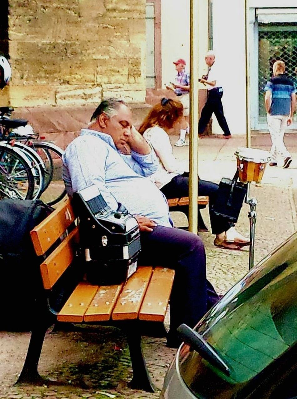 Colmar, Alsace, France Real People Musician Streetphotography Tiredness