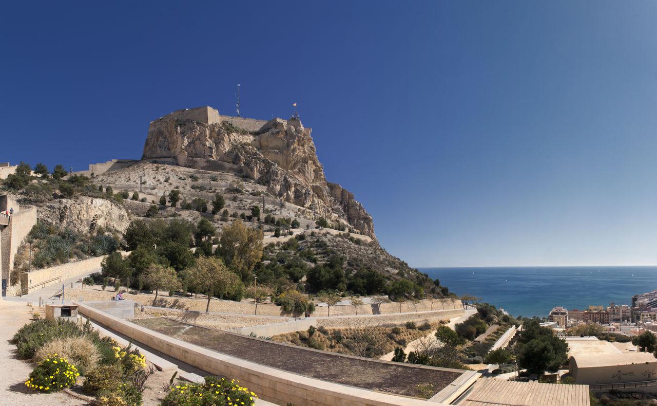 Alicante Castillo Castillo De Santa Bárbara Castle Mountain Sea SPAIN Travel Destinations Vacation Destination