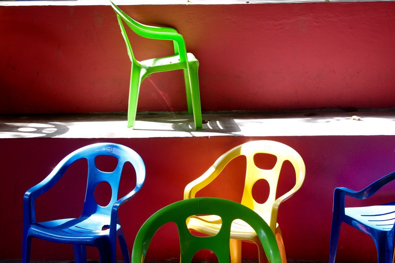 Lightandcolourful Empty Chairs Chairswithstories Chairs Eyeem Philippines Everybodystreet Streetincolors Colors Streetphotography Mybestphoto2015 My Best Photo 2015