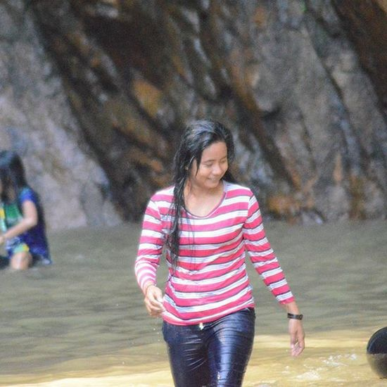 Wet girl - siholbuk waterfall Sibolga , one of many local tourism object in Northsumatera province... Trip Travel Tourism Pariwisata Wisata Waterfall Sumaterautara