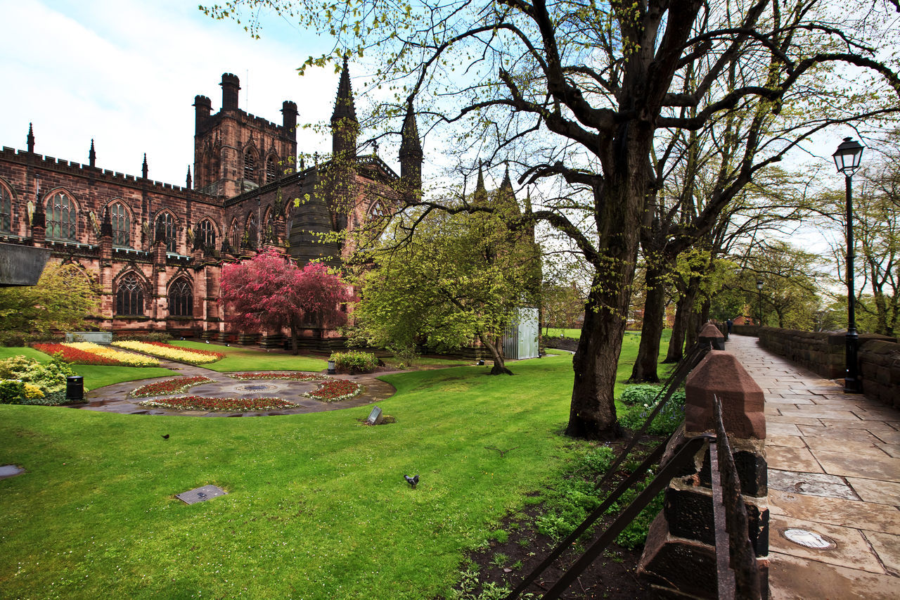 Chester Cathedral in Cheshire area, England UK is one of the most visited place in Chester Architecture Beauty In Nature Britain Building Exterior Built Structure Castle Cathedral Cheshire Chester City Day England Eye4photography  EyeEm Gallery Grass Green Color Growth Nature No People Outdoors Panoramic Park Sky Tree Uk