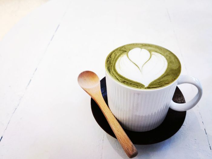 Cultural 抹茶 抹茶拿鐵 Mocha Green Tea Latte Cafe Culture 茶 EyeEm Selects Coffee Cup Coffee - Drink Food And Drink Drink Cup Espresso Mug