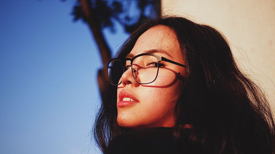 Eyeglasses  One Person Headshot Head And Shoulders Lifestyles Close-up Real People Glasses Women Day Young Women Outdoors Sky Young Adult