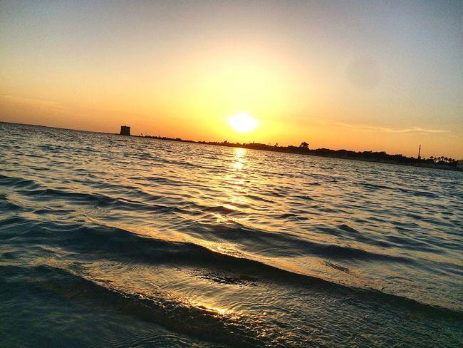 Sea And Sky Sea Seaside Sunset_collection Sunset Sunset #sun #clouds #skylovers #sky #nature #beautifulinnature #naturalbeauty #photography #landscape