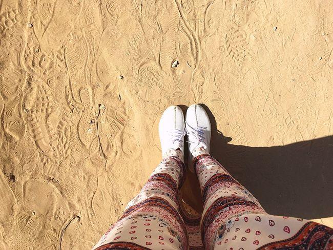 Sand IPhoneography Alexandria Egypt Montzah Footwear Standing Day Travel Sunnny White