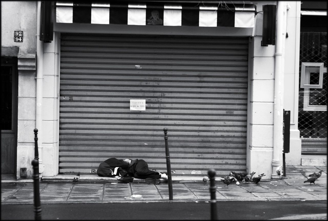Paris Down And Out In Paris Monochrome Street