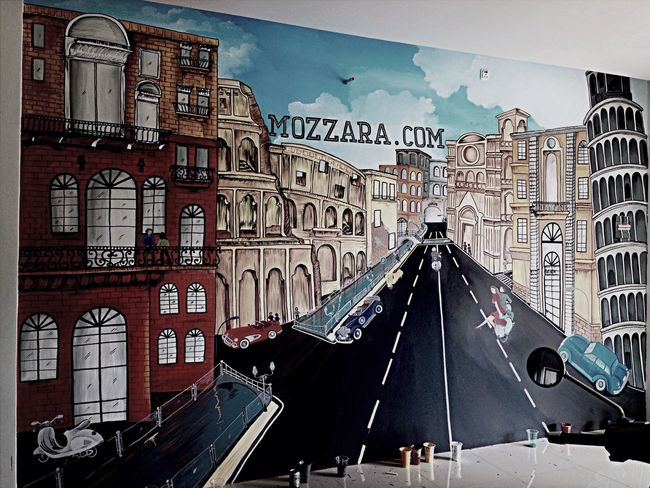 Mural at mozzara.com size 5x3 m Mural Art Painting Italy