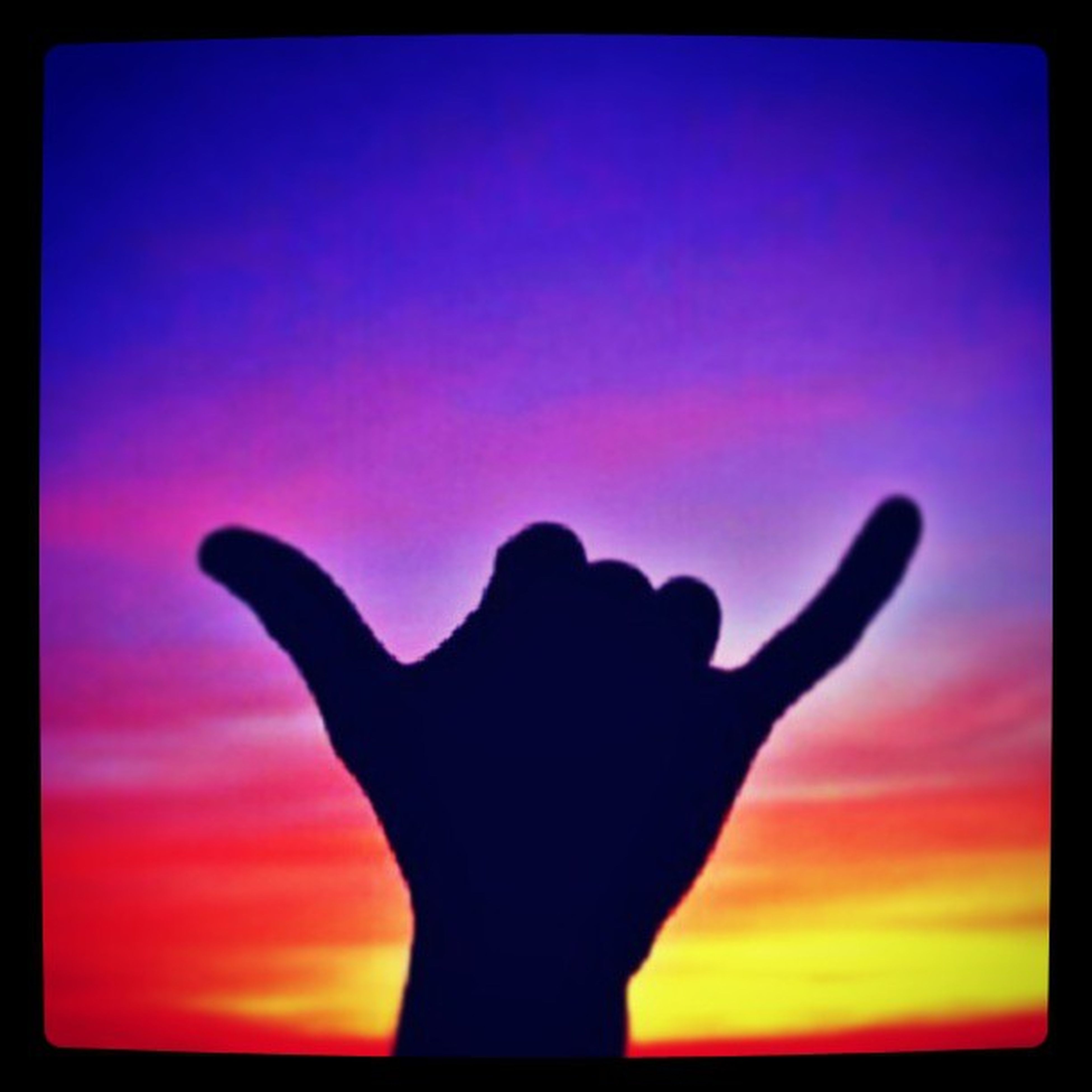 transfer print, auto post production filter, silhouette, sunset, orange color, person, sky, lifestyles, unrecognizable person, leisure activity, part of, human finger, men, nature, outdoors, sun, holding