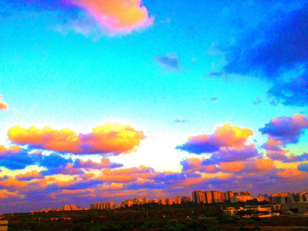 sky in Tel Aviv by Shosh Blum