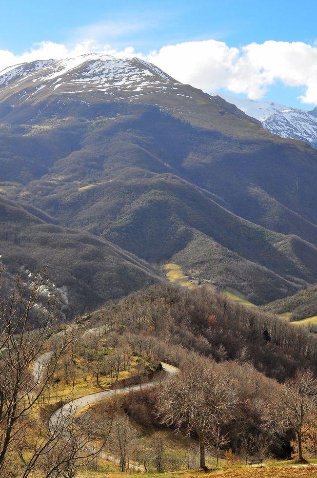 Beauty In Nature Cloud - Sky Landscape Mountain Mountain Ridge Road Sarnano Travel Destinations