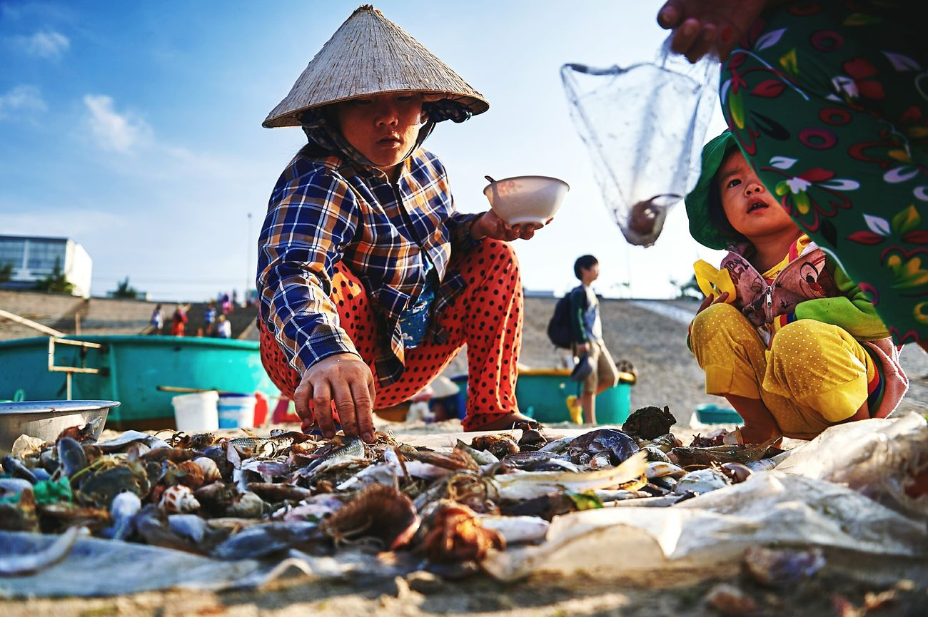 RePicture Travel in Vietnam, Fish Market, Traveling Travel Photography Fishvillage Eye4photograghy EyeEm Best Shots Lifestyle