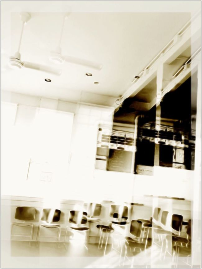 Meeting Hall - Silver Lake CA / Before 6PM Silver Lake Double Exposure Meetinghall Seating Black And White Photography Light And Dark Interior Black And White Aremac Still Life Photograph