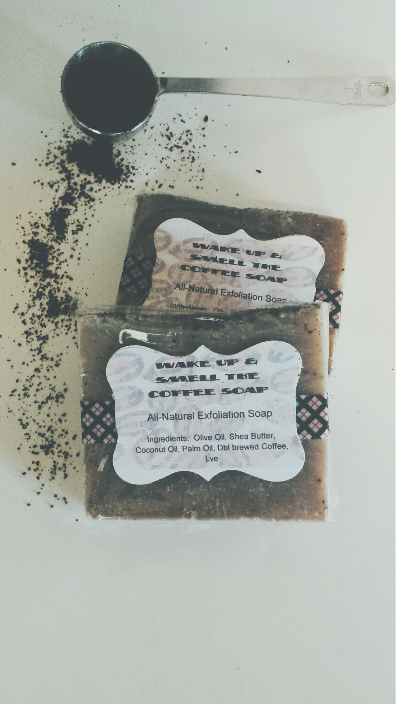 Coffee soap, how did I not know about this!!!! A lady was selling these at a diabetes benefit yesterday... obsessed Coffee Coffeelover Coffeeaddicts coffeea