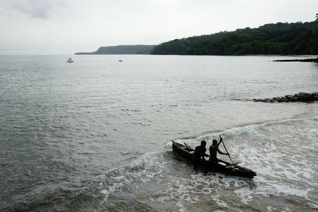 Africa Beach Canoe Fisherman Fishermen Island Island Life Ocean Paradise Sao Tome Sea Sao Tome Sao Tome E Principe Travel Travelling Water Work Working