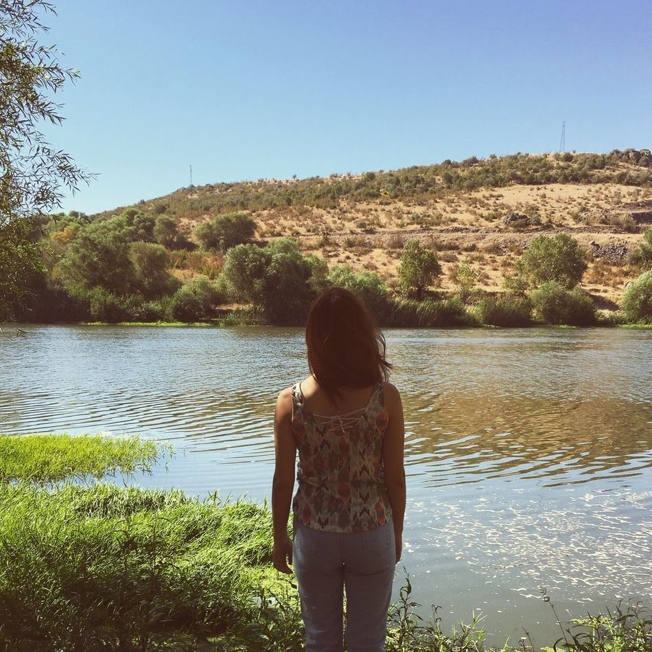 Day Tranquility No People Tranquil Scene Silhouette Water Nature Rear View Real People Lifestyles Clear Sky Leisure Activity One Person Beauty In Nature Lake Tree Plant Scenics Growth Tranquility Outdoors Standing Grass Turkey Turkey Balikesir