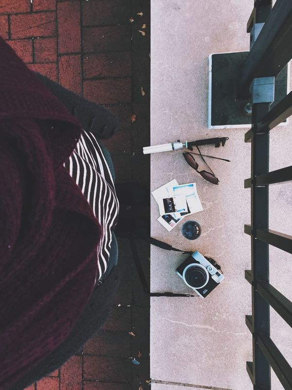 All set to capture the sunset. VSCO Fuji Instax Floortraits