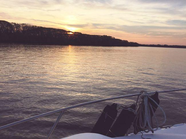 Sunset River Boat First Eyeem Photo
