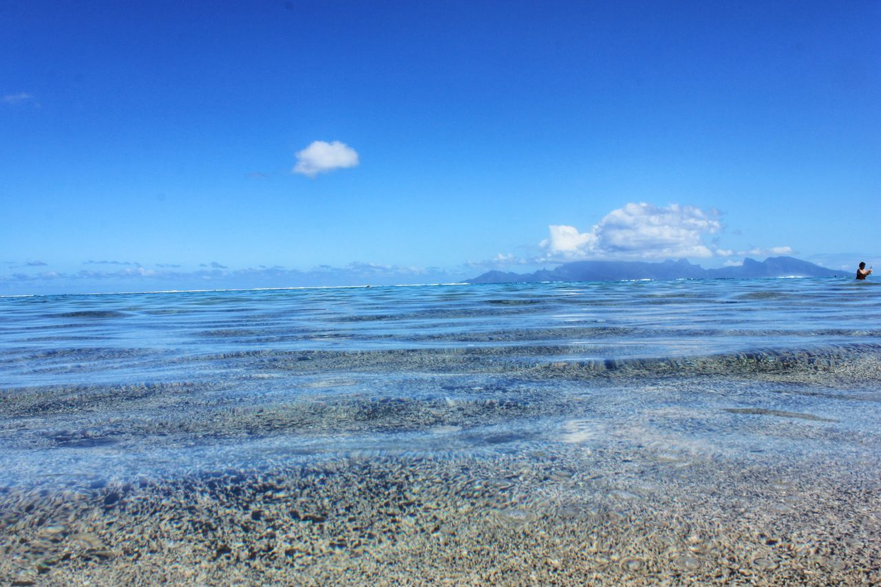 Beautiful stock photos of ocean, Beauty In Nature, Blue, Cloud, Copy Space