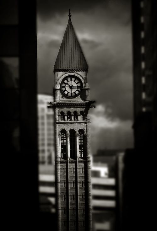 Clock tower. IPhoneography Monochrome Architecture