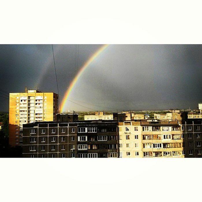 А у нас ливень и 2 радуги ?? Summer Soonautumn Rain Sky rainbowvscovsco_goodvscoeditvscocamvscobestinstagraminstasizeinstabest