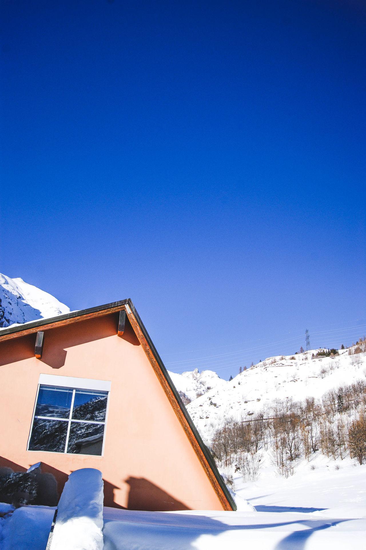 Beautiful stock photos of grafiken, blue, one person, sky, snow