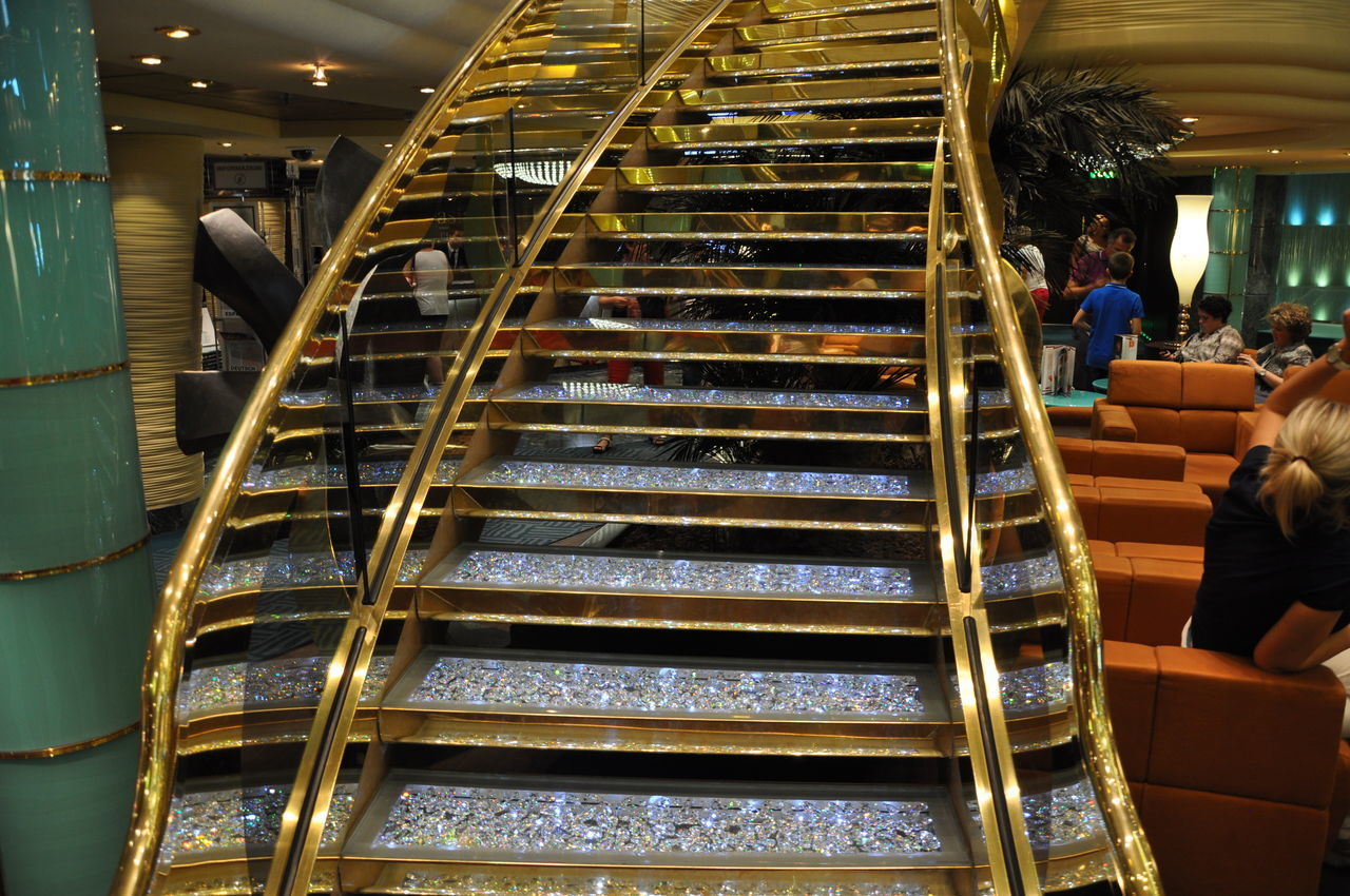 real people, steps and staircases, steps, indoors, staircase, men, day, people