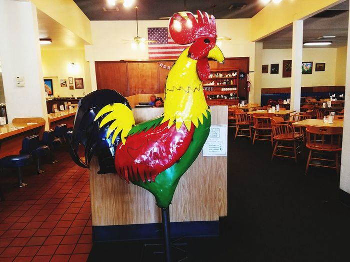 Big Chicken Resturaunt Picture Chicken Pie Shop Celebration One Person Indoors  Balloon Fun Multi Colored One Woman Only People Party - Social Event Adult Only Women One Young Woman Only Adults Only Day