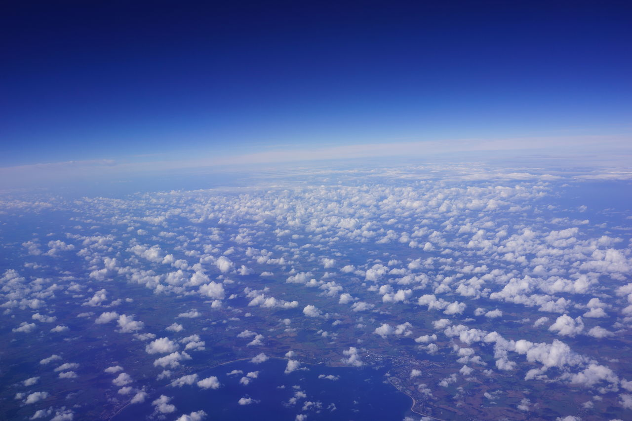 Aerial View Backgrounds Blue Cloud - Sky Clouds And Sky Day Flying Nature No People Planet Earth Scenics Sky The Natural World