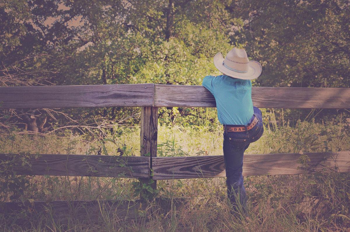 Boy Casual Clothing Child Cowboy Farm Farm Life Little Cowboy Outdoors