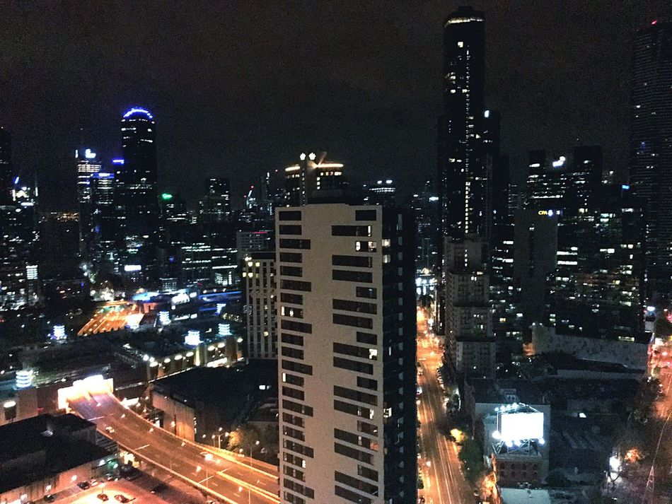 Melbourne from the 34th Melbourne City Cityscapes Nightphotography Citynight Highrise Nightlife Australia 34th Floor Southbank