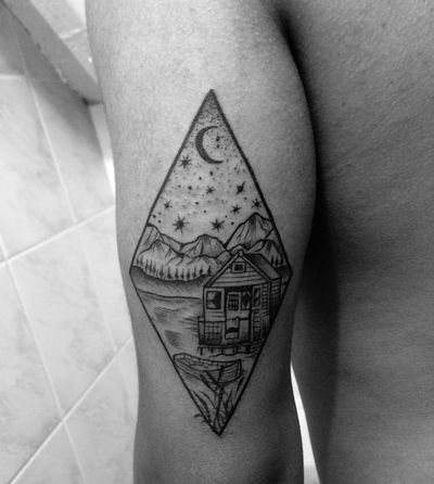 Inprogress Tattooblackwork Tattoo Dotworkblackwork Ongtattooist Ong15ktattoo 15kbangsaen Chonburi Thailand
