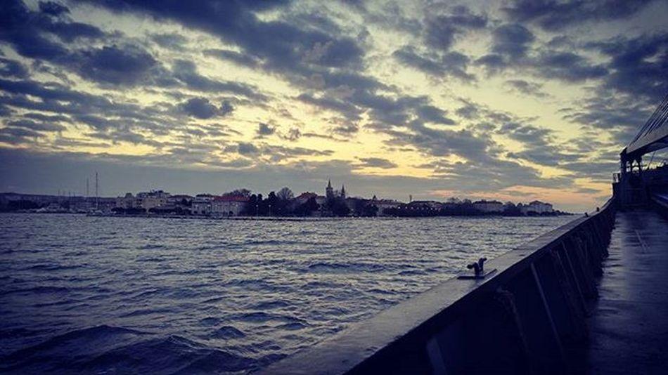 Road to Zadar Port Pilot on Board Landscape Beauty City Crotia Hrvatska Sea From  Deck Ship Shipping  Captain Maritime Deniz Denizci Denizcilik Liman