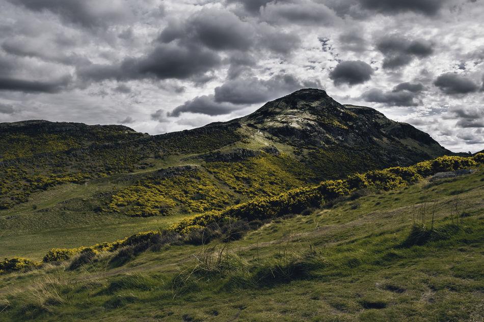 Arthur's Seat Beauty In Nature Cloud - Sky Landscape Mountain Nature Outdoors Scenics Scotland