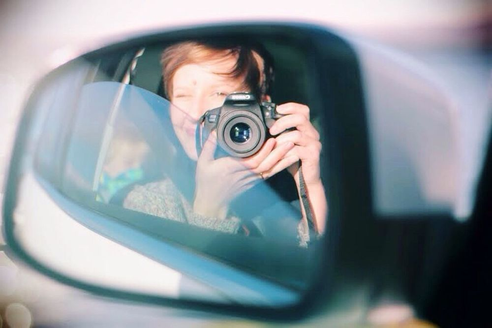 Self Portrait Taking Photos Cheese! Hi! That's Me Women Scotland Female Scottish Highlands Eyeemphotography Colour Light Mirror Reflection Camera Car Drive Women Of EyeEm Woman Photographer